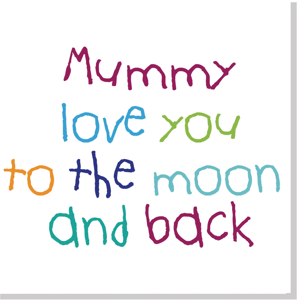Mummy moon and back multi square card