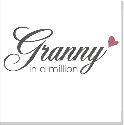 Granny in a million square card