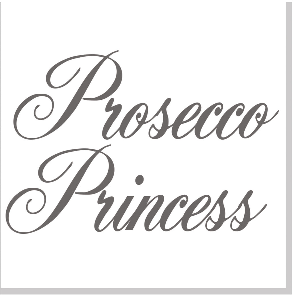 Prosecco Princess square card