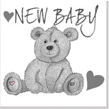 Teddy New Baby square card