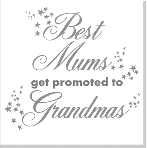 Best Mums get promoted square card