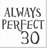 Always perfect Age square card
