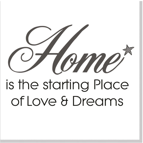 Home love and dreams square card