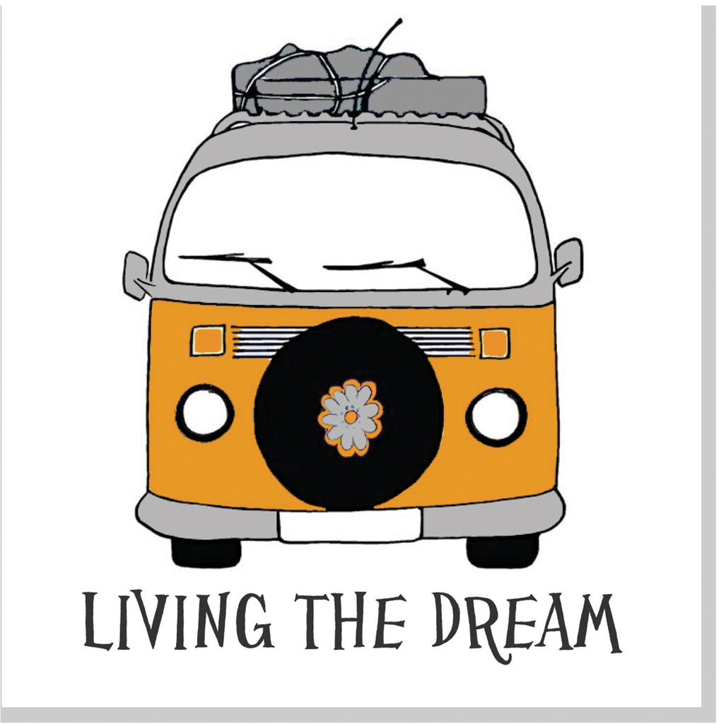 Living the dream camper van square card