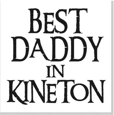 Personalised Best Daddy City square card font 10