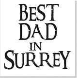 Personalised Best Dad City square card black font 10