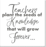 Teacher grow forever square card