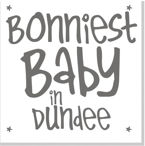 Personalised Bonniest Baby city stars square card