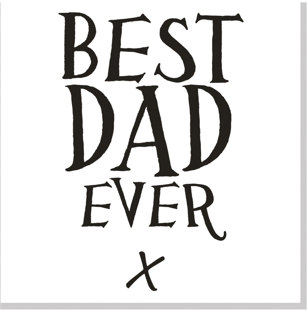 Best Dad ever square card