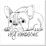Hey handsome square card
