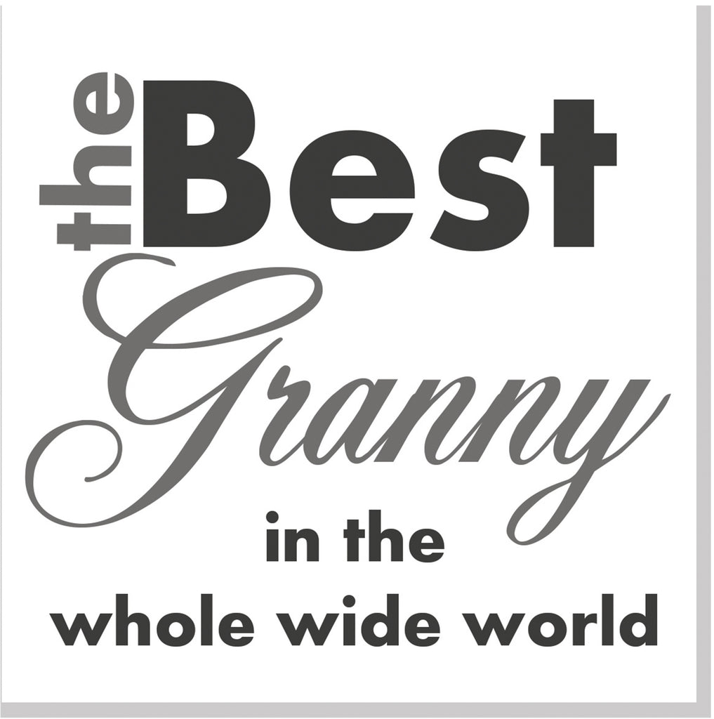 Best Granny in the whole wide world square card grey
