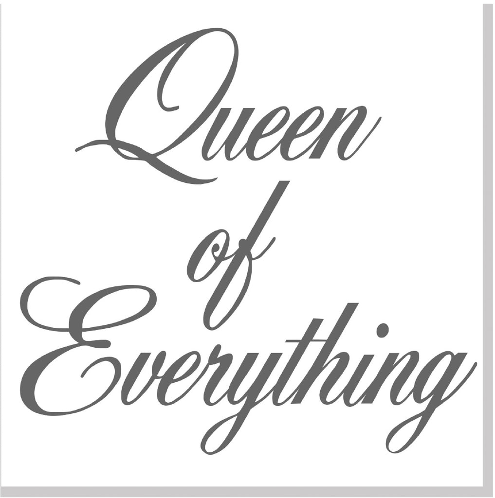 Queen of Everything square card