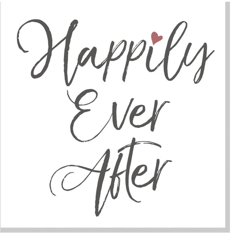 Wedding Happily Ever After square card