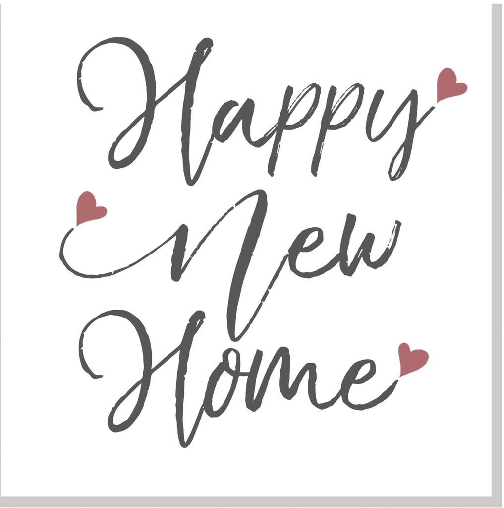 happy new home pink hearts square card