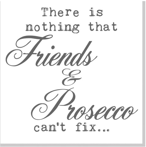 Friends and Prosecco square card