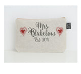 Wedding Hearts small Make up Bag