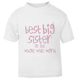 Best Big Sister in the whole wide world Toddler T Shirt pink