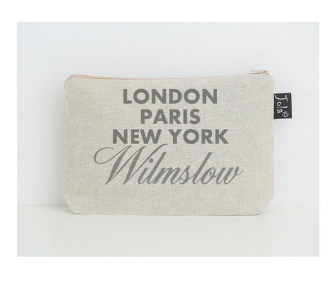 Personalised City sparkle small Make up bag