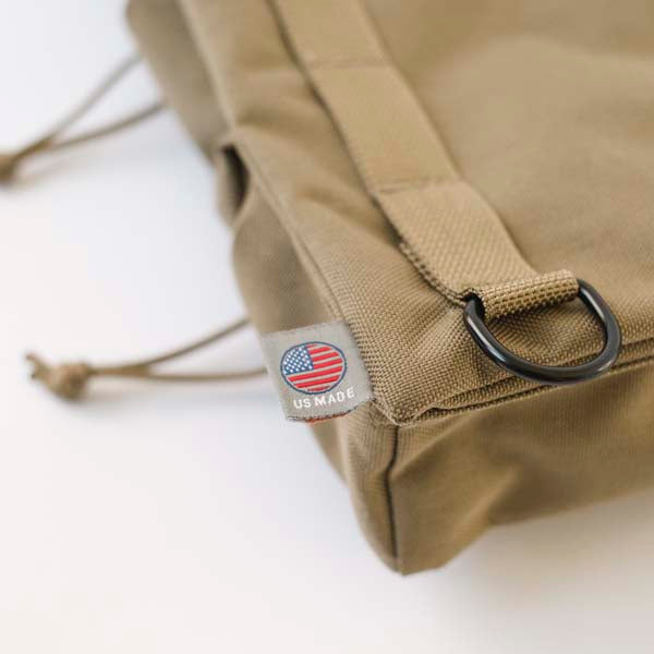 LUSB154 Coyote Half Caddy with US Made Label Detail