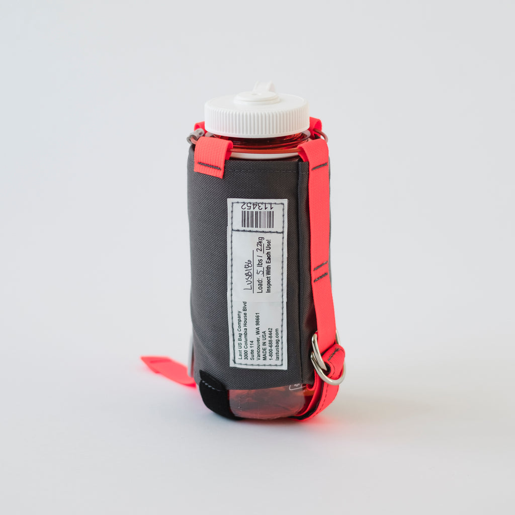 LUSB186 32oz. Orange Nalgene Water Bottle and Grey Carrier