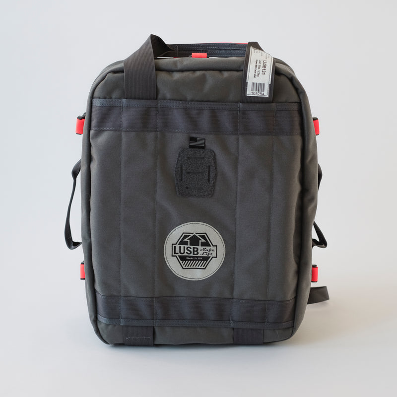 LUSB131 Black Flag Backpack, 50#, 20x16x6