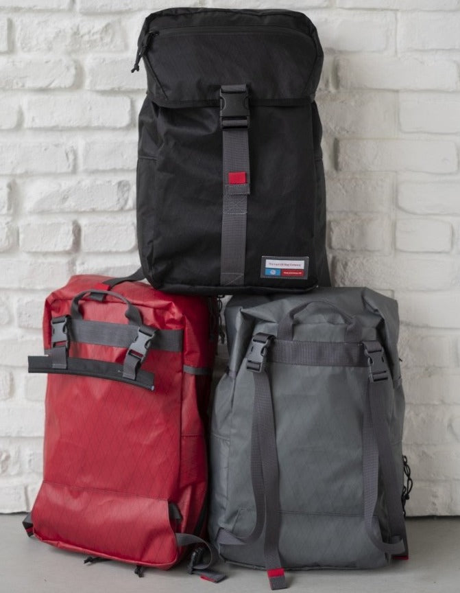 LUSB242 Black, Red, and Grey Rooftop Pannier stacked