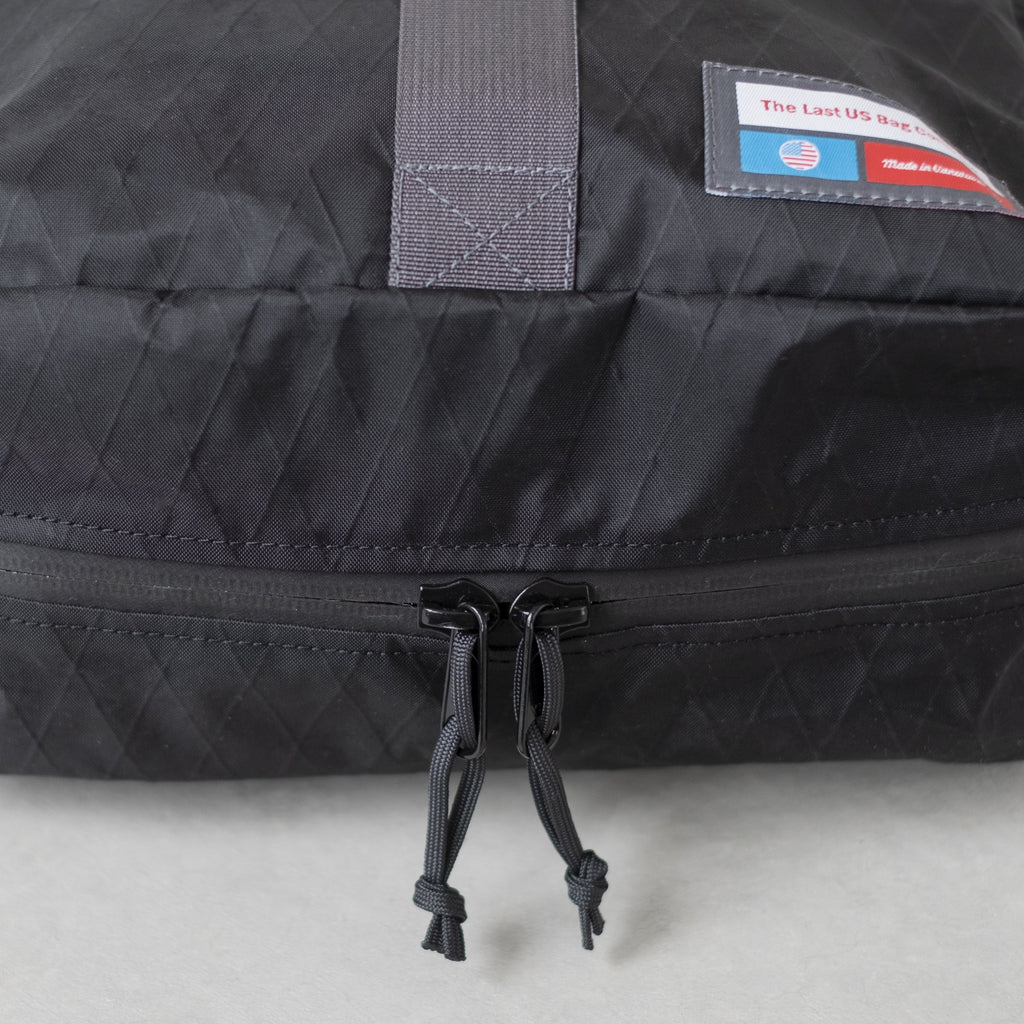 LUSB242 Black Rooftop Pannier YKK Zippers on bottom side