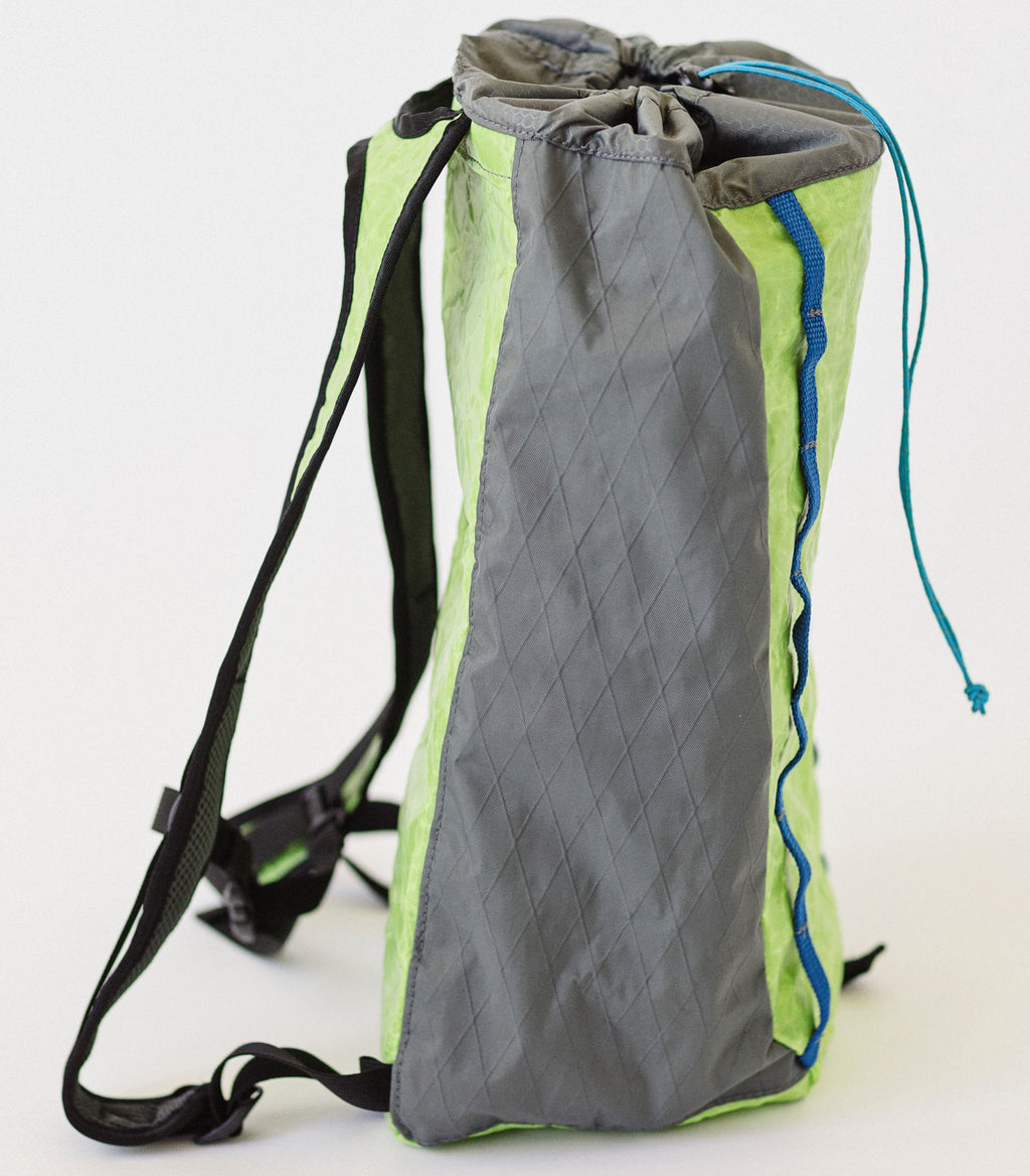 LUSB171 Ultralight Day Pack Lime/Grey Side View