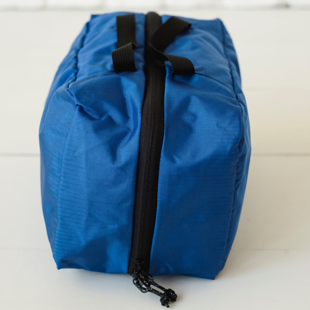 LUSB198 Blue Small Nylon Storage Cube Side View