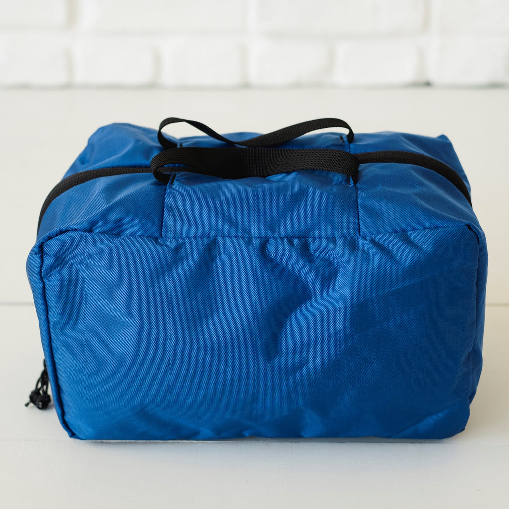 LUSB198 Blue Small Nylon Storage Cube Front View