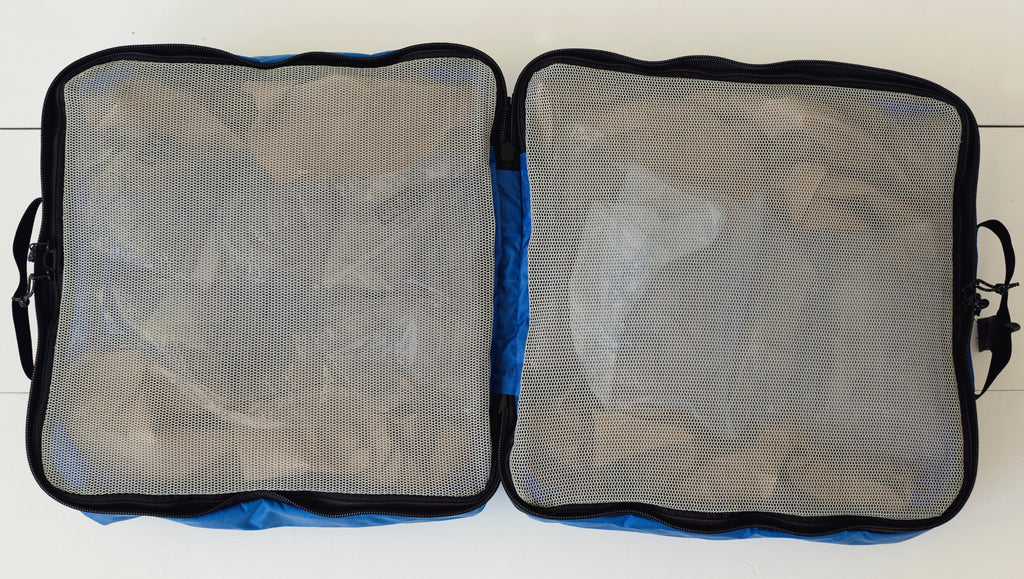 LUSB224 Blue Large Nylon Storage Cube Mesh Interior