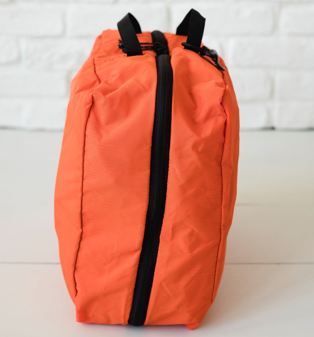 LUSB224 Orange Large Nylon Storage Cube Side View