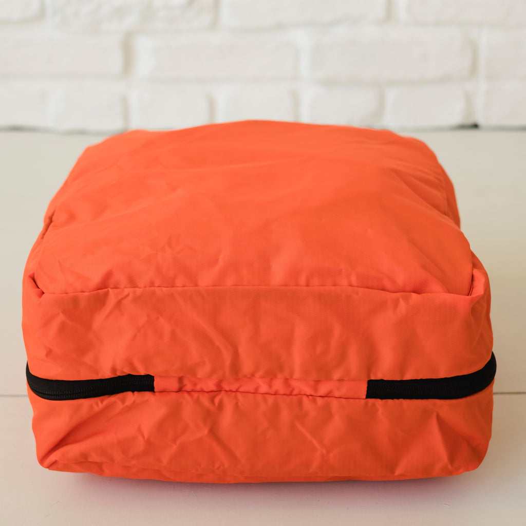 LUSB224 Orange Large Nylon Storage Cube Flat