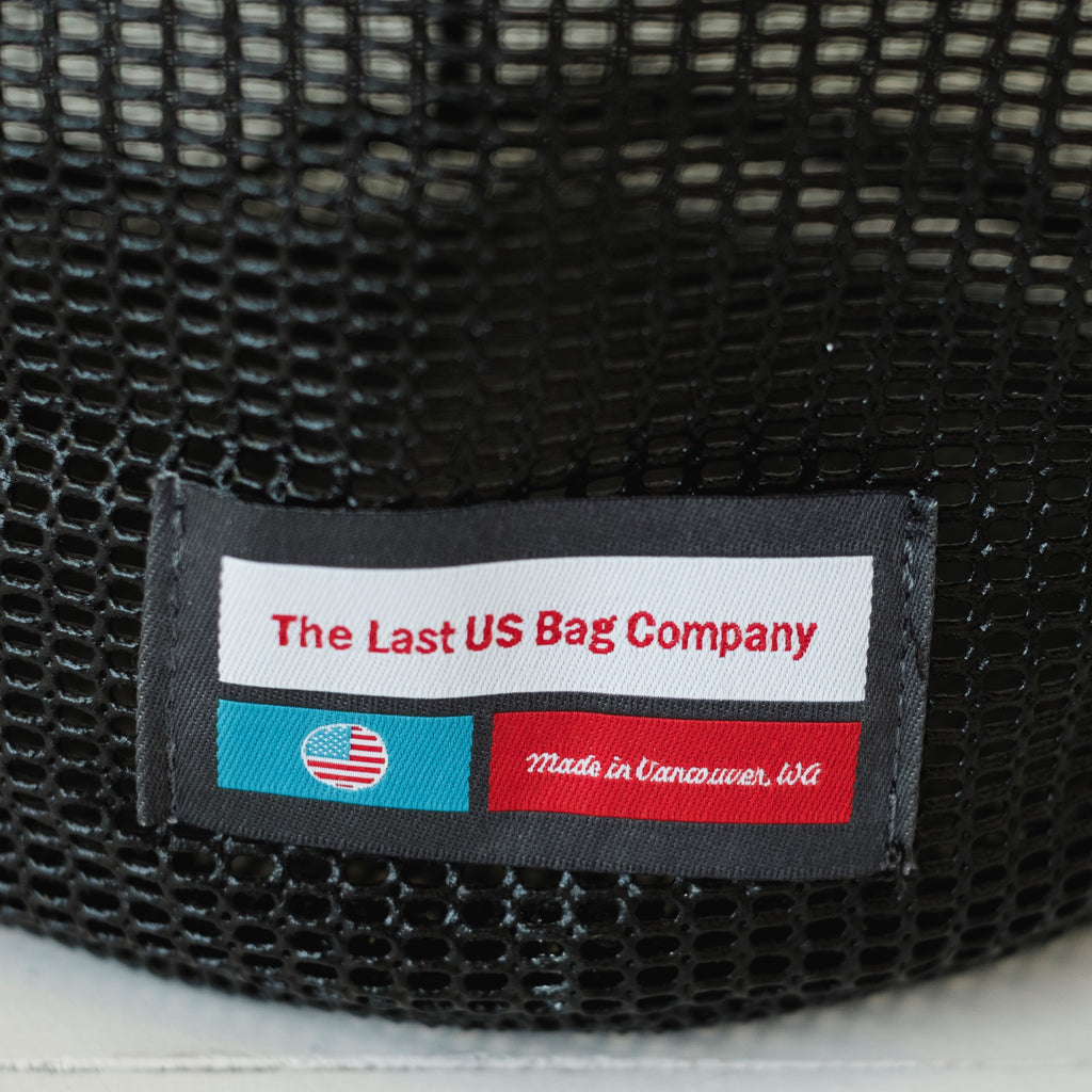 LUSB245/246 Black Mesh Bucket with LUSB Label Detail