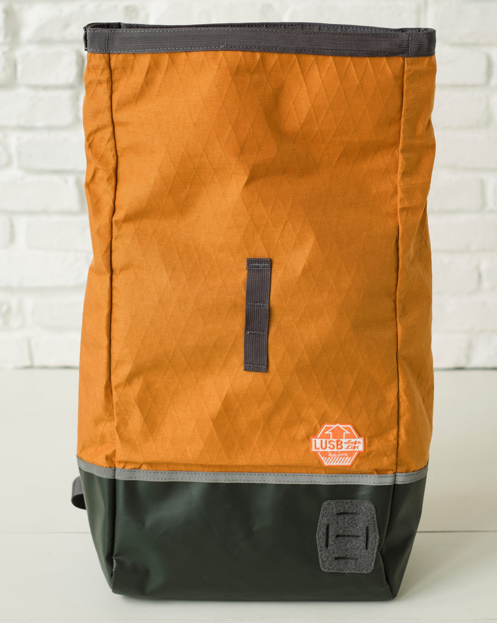 LUSB132HV Limited Edition Roll Top Back Pack in Harvest Front View
