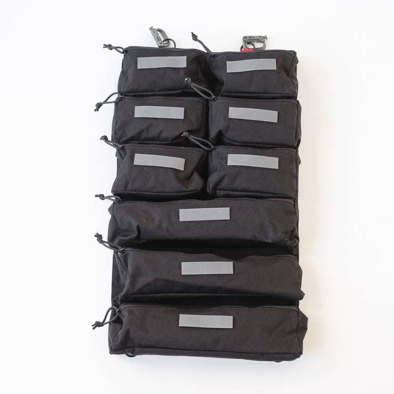 LUSB302 Black Caddy with 9 Pockets and Removable Hook Labels