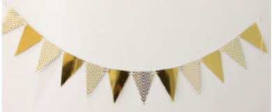 Gold Party Banner