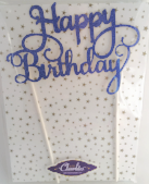 Happy Birthday Royal Blue Cake Toppers