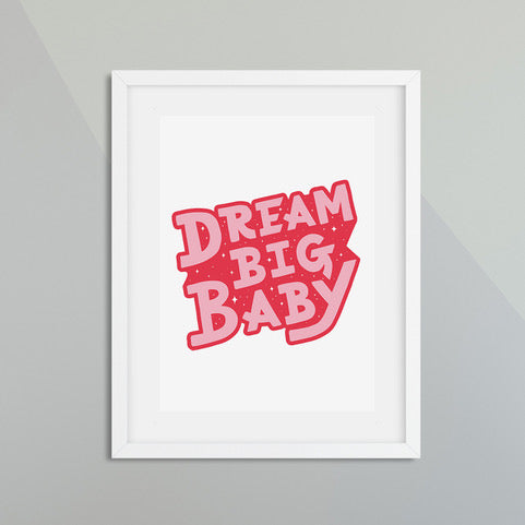 DREAM BIG BABY PINK/RED