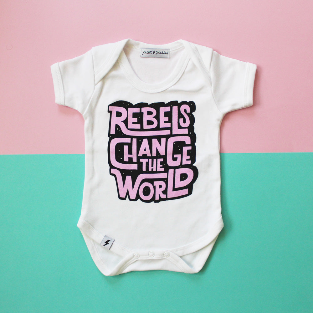 Rebels Change The World Babysuit
