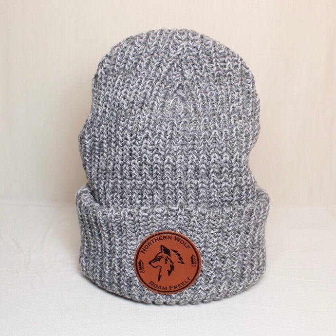 North Woods Beanie - Grey & White