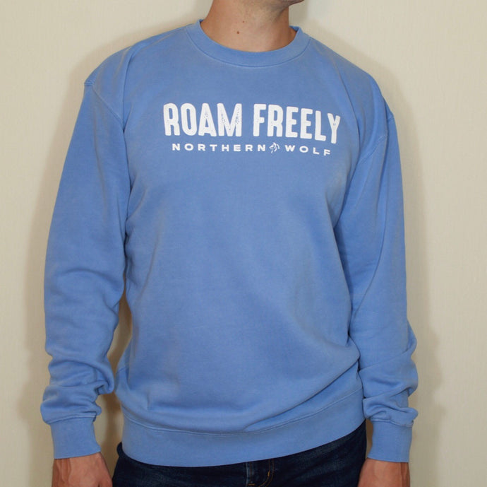 Roam Freely Crewneck - Sky Blue