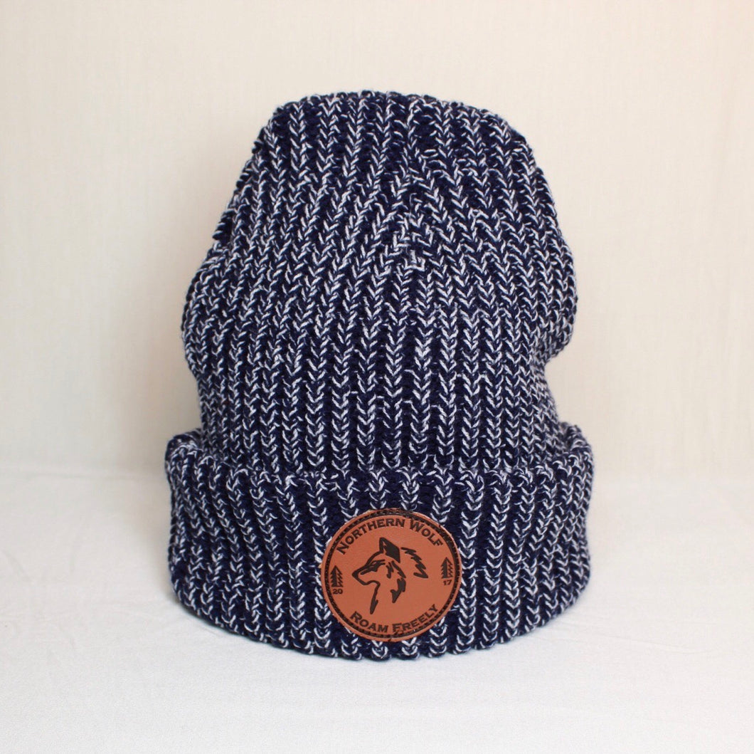 North Woods Beanie - Navy & White