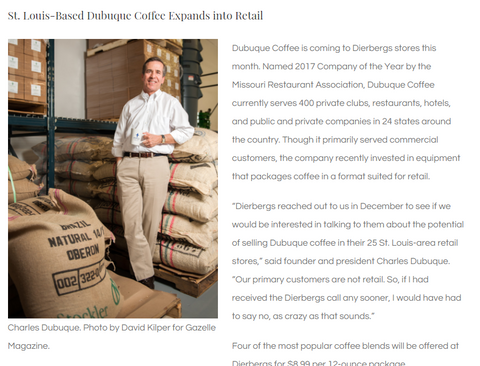 http://gazellemagazine.com/st-louis-based-dubuque-coffee-now-available-in-dierbergs/