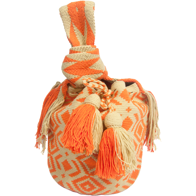 Tangerine Crocheted Bag - MãeAzul