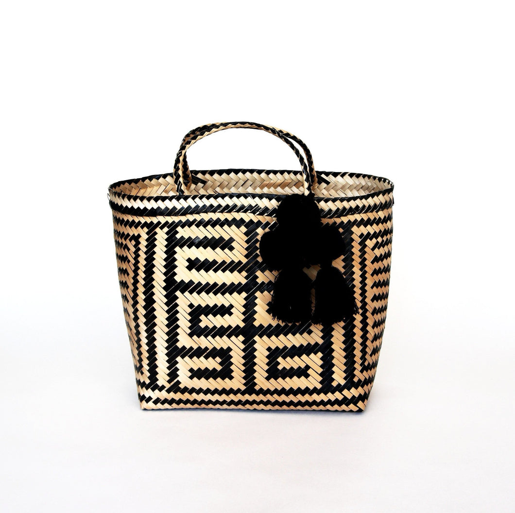 Aymara  Shopper Straw Bag - Medium - MãeAzul