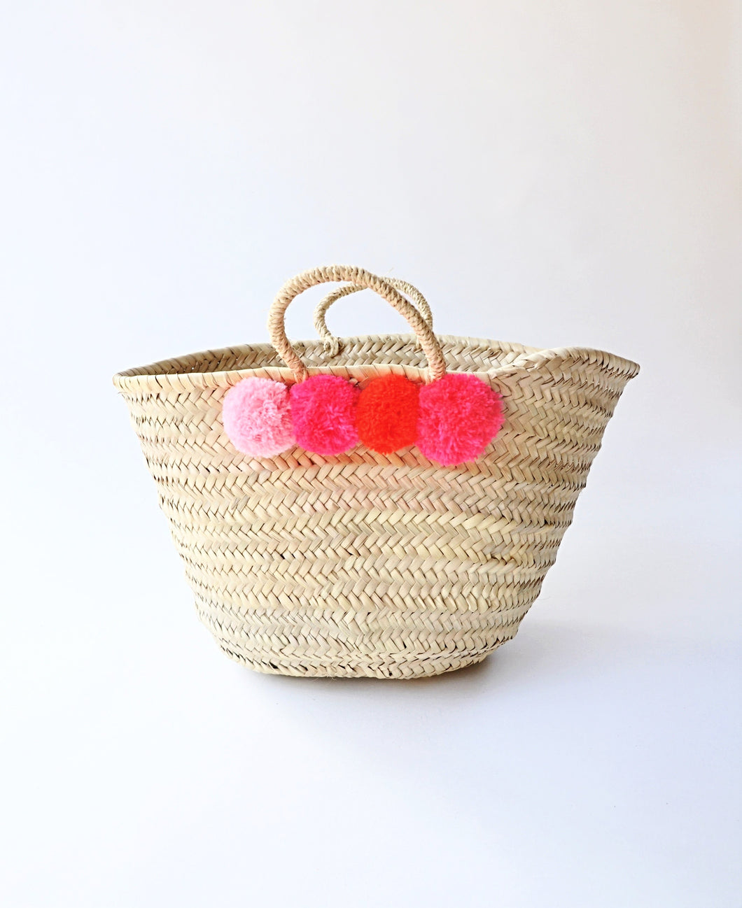 Marrakesh Shopper Straw  Basket - MãeAzul