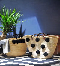 Noir Shopper Straw  Basket - MãeAzul