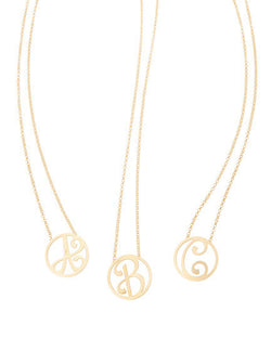 K KANE - MINI INITIAL PENDANT IN YELLOW GOLD