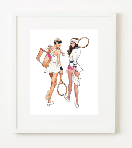 INSLEE BY DESIGN FRAMED DOUBLES PRINT